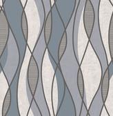 Gyro Charcoal Swirl Geometric  Contemporary Wallpaper