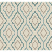 ND7086-Candice Olson Inspired Elegance Diva Wallpaper in Blue, Green, and Brown