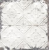 Tin Ceiling White Distressed Tiles