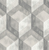 Rustic Wood Tile Ash Geometric