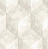 Rustic Wood Tile Cream Geometric
