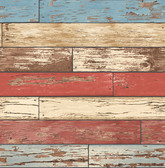 Scrap Wood Red Weathered Texture