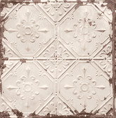 Tin Ceiling Beige Distressed Tiles