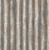 Corrugated Metal Charcoal Industrial Texture