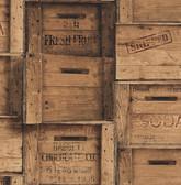 Wood Crates Brown Distressed Wood
