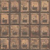 Vintage P.O. Boxes Rust Distressed Metal