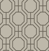 Circuit Taupe Modern Ironwork  wallpaper