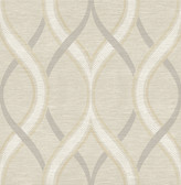 Frequency Beige Ogee  wallpaper