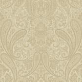 Ludlow Beige Paisley Wallpaper