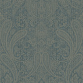 Ludlow Blue Paisley Wallpaper