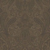 Ludlow Chocolate Paisley Wallpaper