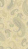 Nathaniel Beige Modern Paisley Wallpaper