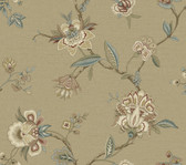 Monaco Beige Jacobean Trail Wallpaper