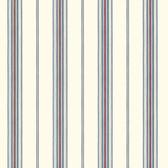 Cooper White Cabin Stripe Wallpaper