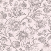 Kepler Light Pink Sketched Floral