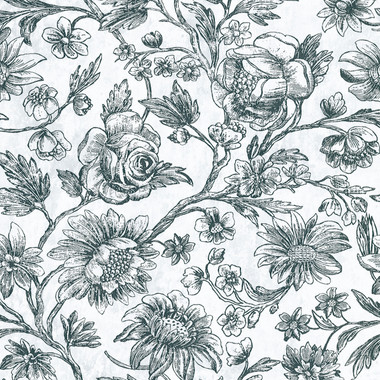Kepler Light Blue Sketched Floral