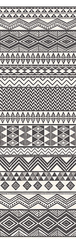 Aztec Stripe Cream Geometric Wall Mural
