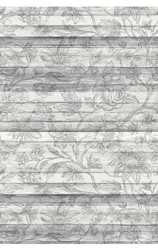 Woodlands Light Grey Floral Board Wall Mural