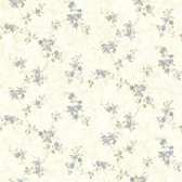 Rose Valley Sky Floral Trail Wallpaper