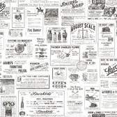 Adamstown Ivory Vintage Newspaper Wallpaper