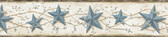 June Blue Heritage Tin Star Border