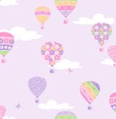 Hot Air Balloons Lilac Balloons