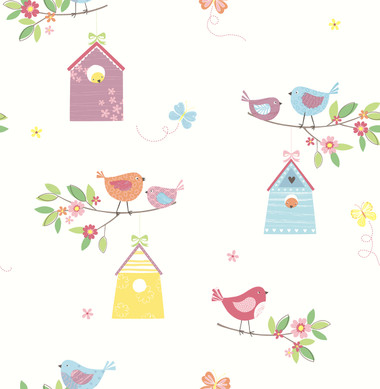 Birdhouses White Birds