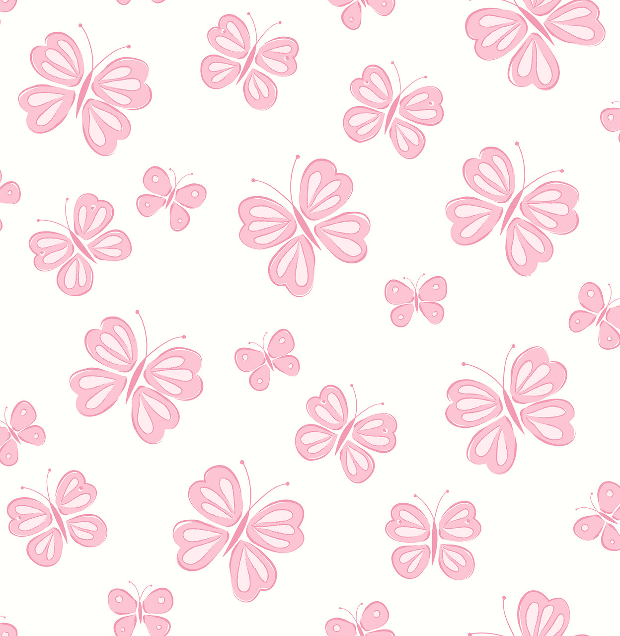 Butterflies Pink Butterflies 2679 002129 Wallpaper