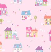 Happy Street Pink Houses