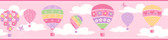 Balloons Pink Border