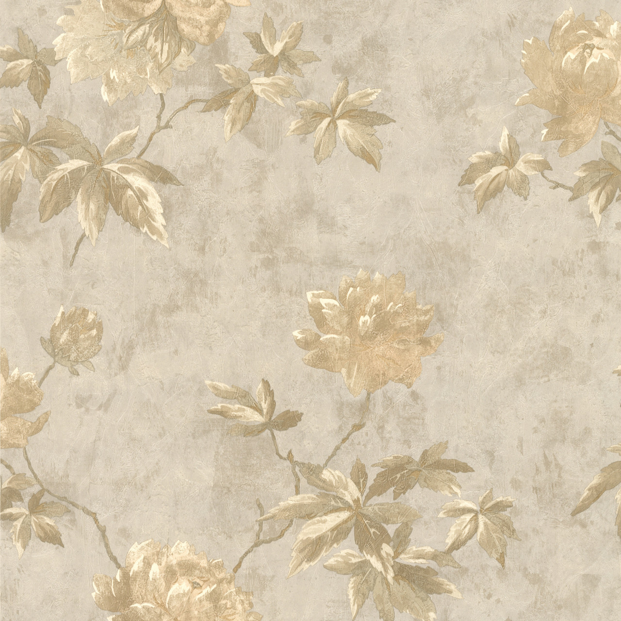 414 54263 Carmela Silver Floral Wallpaper