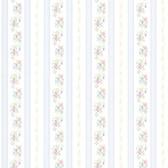 Princess Light Blue Floral Stripe