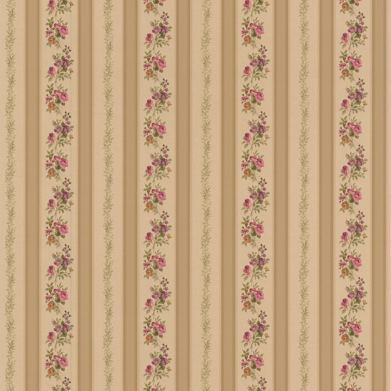 414 56032 Princess Gold Floral Stripe Wallpaper