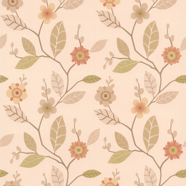 Claudia Apricot Retro Blossom