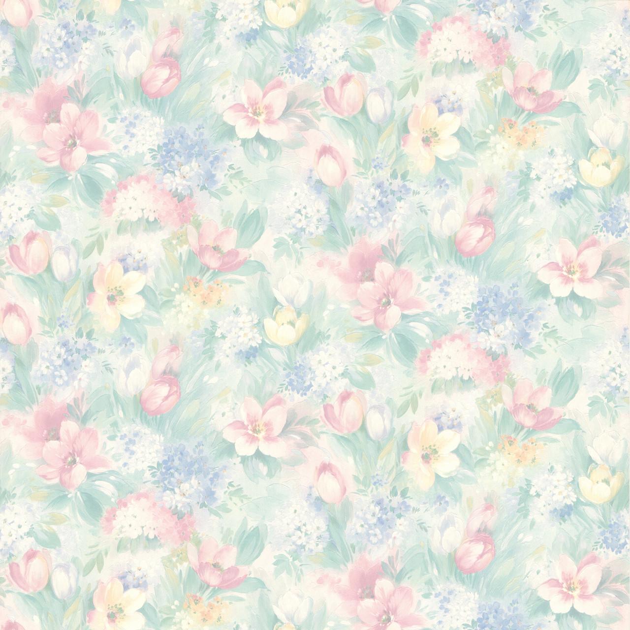 414 75868 Georgia Pastel Floral Motif Wallpaper
