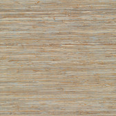 Isami Light Blue Grasscloth Wallpaper