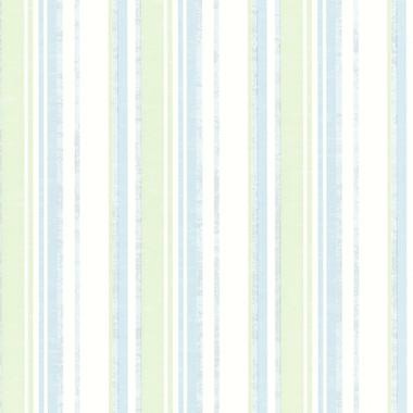 Belfast Aqua Galop Stripe Wallpaper