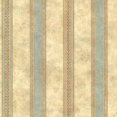 Castine Aqua Tuscan Stripe Wallpaper