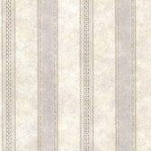 Castine Fog Tuscan Stripe Wallpaper