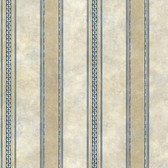Castine Blue Tuscan Stripe Wallpaper