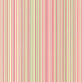 Wells Pink Candy Stripe Wallpaper