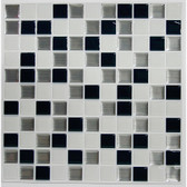 TIL3227FLT - Black & White Mosaic Stick TILES™ - 4 Pack