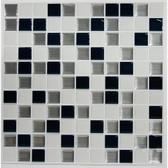 TIL3227FLT - Black & White Mosaic Stick TILESÕÔÕ_Ղë‰ÕÔÕ__ÕÔÕ_Ղë‰ÕÔÕ_ÕÔë_ - 4 Pack