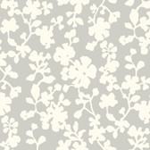 Candice Olson Shimmering Details DE8832 Shadow Flowers White-Grey Wallpaper