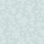 Candice Olson Shimmering Details DE8835 Shadow Flowers Light Blue Wallpaper