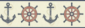 Nautical Living Nautical Spot Border