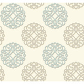 Candice Olson Shimmering Details DE8866 Duo Blue-Brown Wallpaper