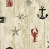 Nautical Living Weathered Seashore Wallpaper