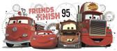 WALT DISNEY KIDS II CARS 2 FRIENDS TO FINISH GIANT WALL DECAL