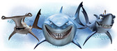 WALT DISNEY KIDS II FINDING NEMO SHARKS GIANT WALL DECAL